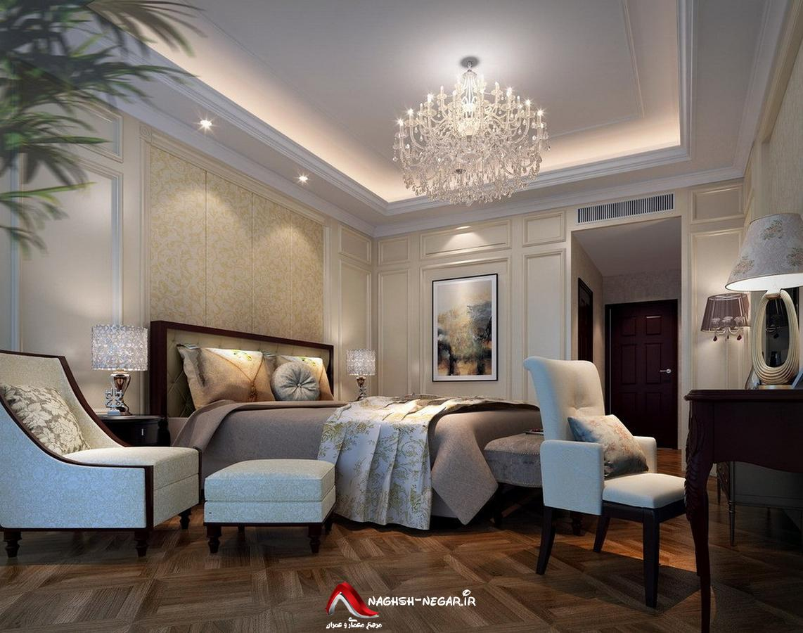 for Neoclassical bedroom interior design